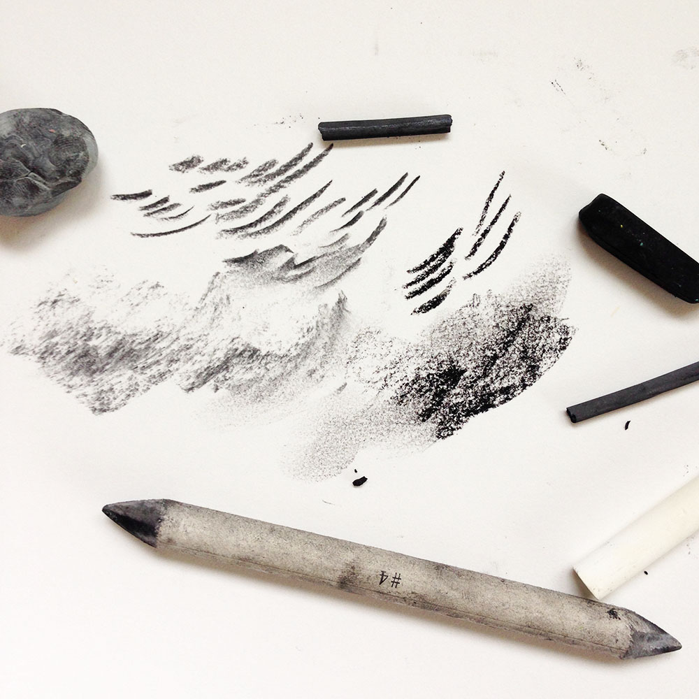 How to draw a charcoal landscape, with downloads for educators