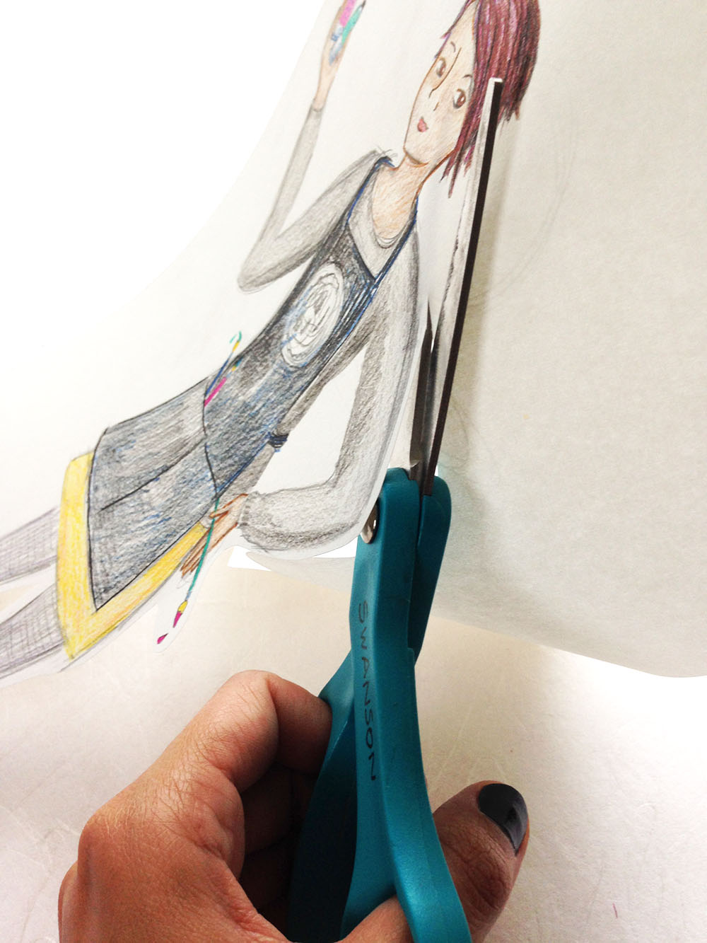 How to draw a back-to-school self portrait step by step, with free educator resources