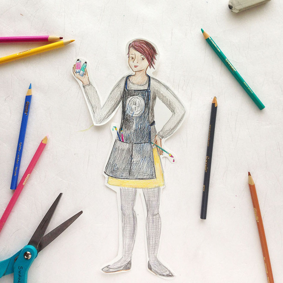 How to draw a back-to-school self portrait step by step, with free educator resource