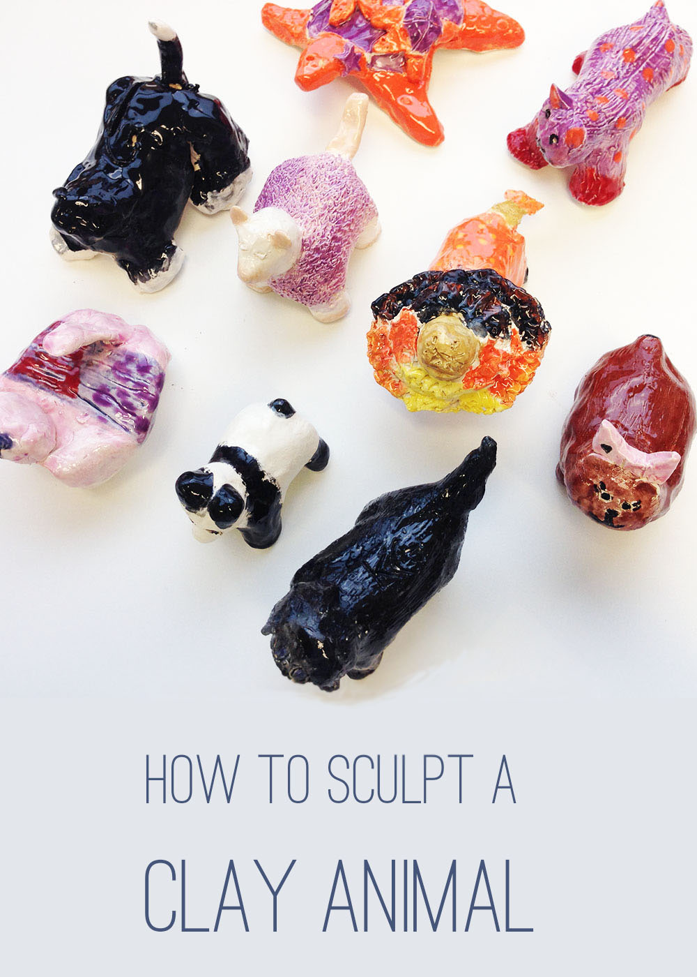 How to sculpt a clay animal