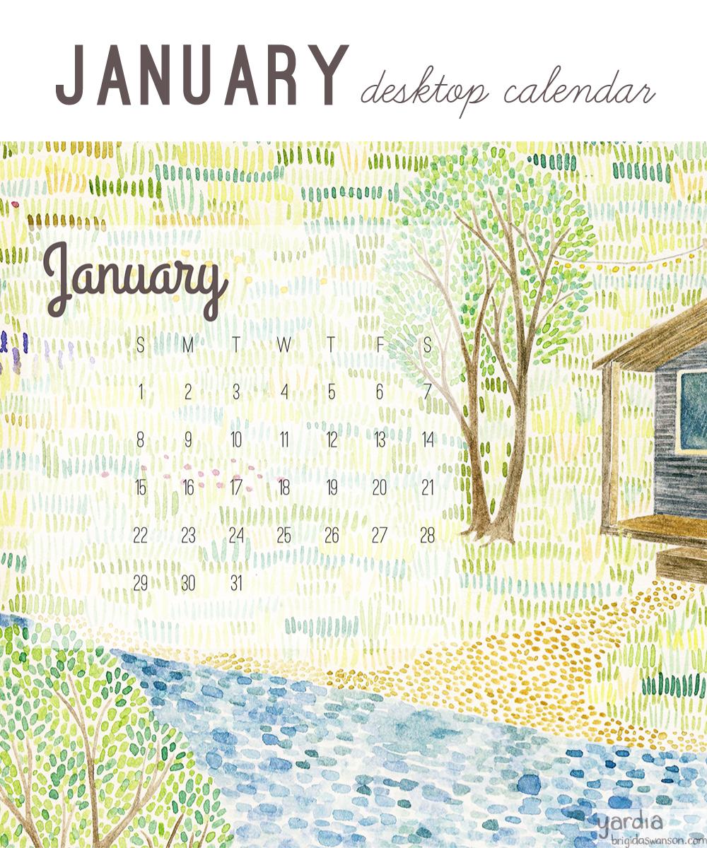 Yardia January 2017 calendar