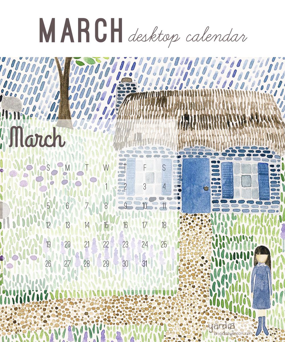 Yardia March 2017 Calendar