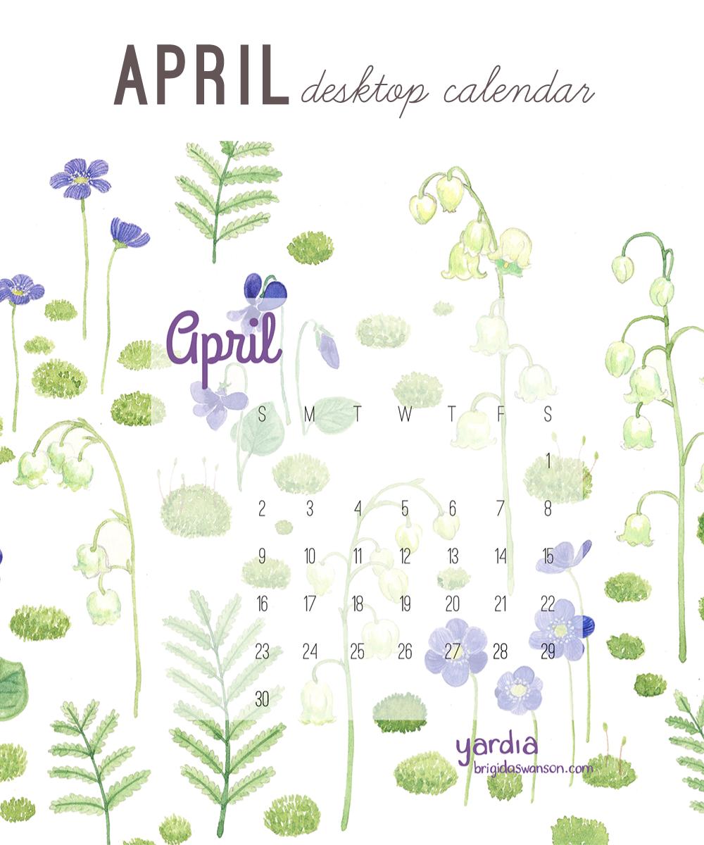 Yardia April 2017 calendar