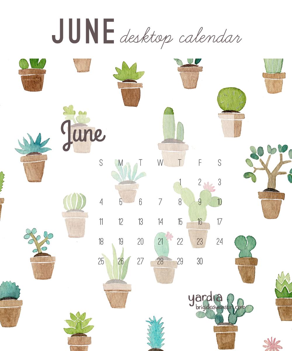 Yardia June 2017 calendar