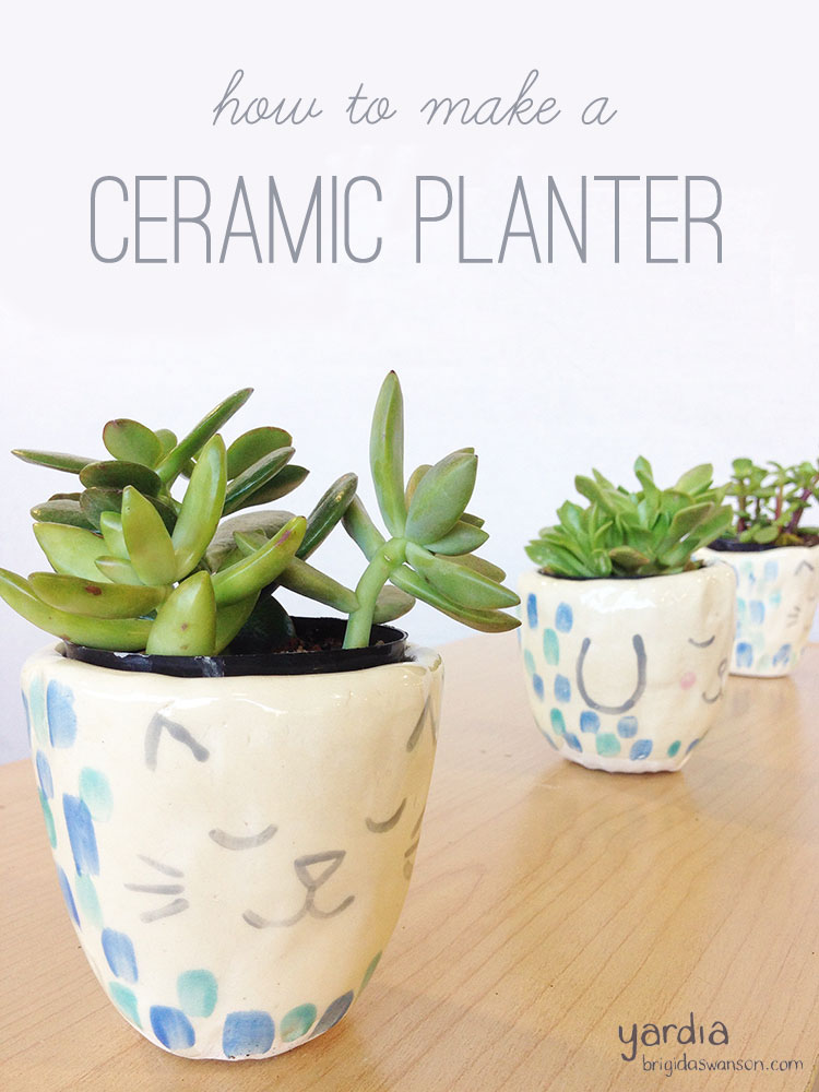 How to make a ceramic succulent planter by Yardia