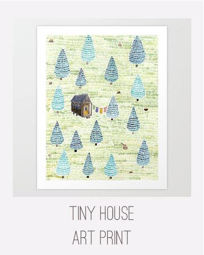 Yardia Tiny House Art Print