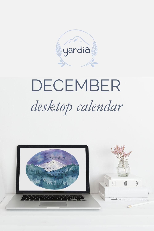 Yardia December 2017 calendar