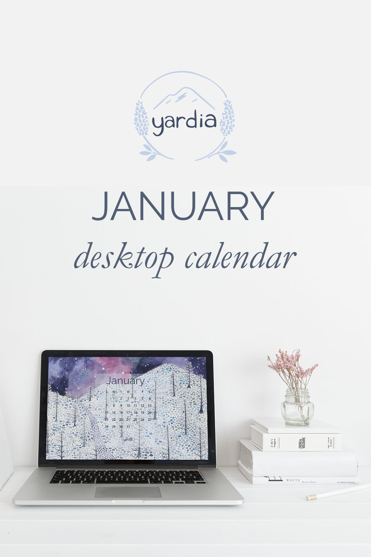 Yardia January 2018 Desktop Calendar