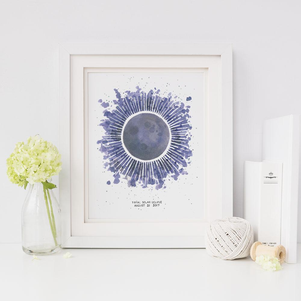 Yardia eclipse print
