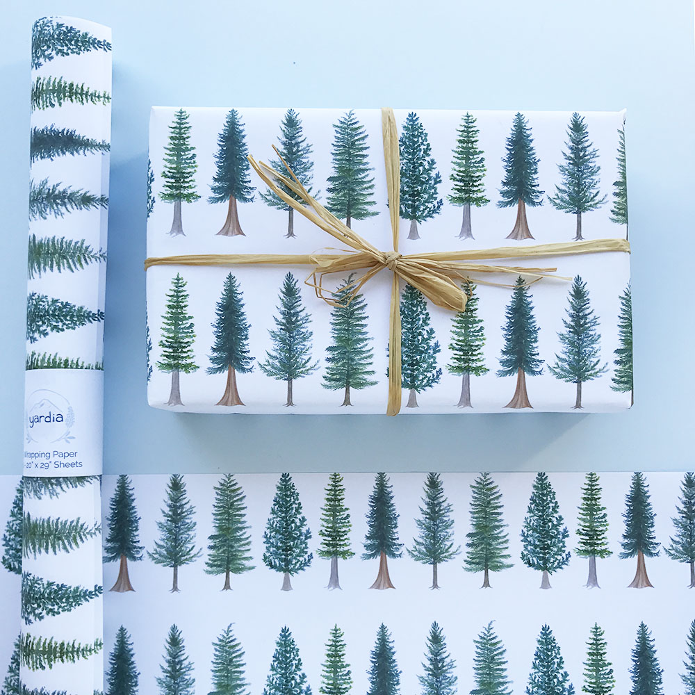 Yardia evergreen wrapping paper