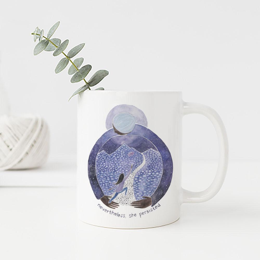 Nevertheless She Persisted mug by Yardia