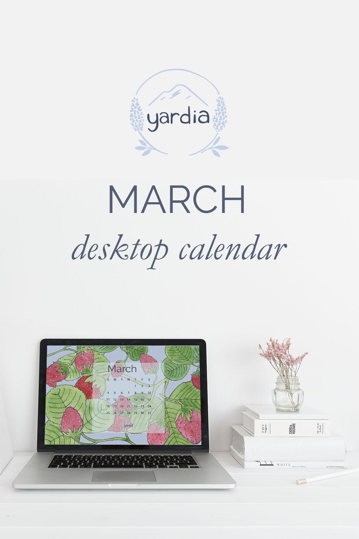 March 2018 Digital Calendar