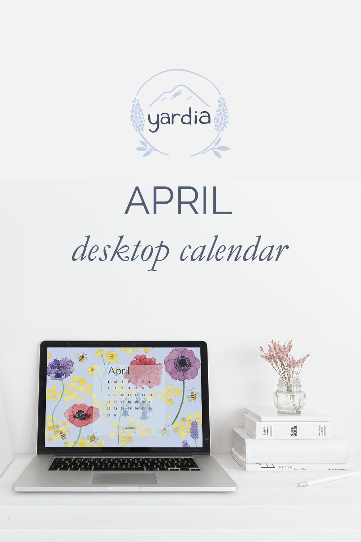 April 2018 Digital Calendar