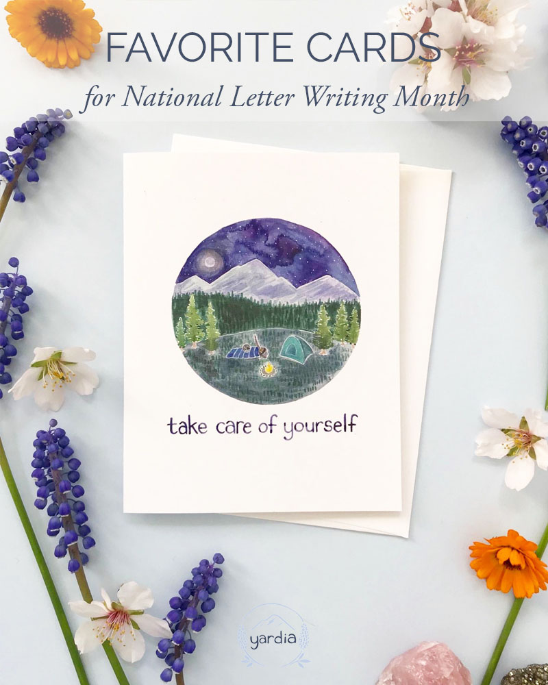 Favorite Cards for National Letter Writing Month by Yardia