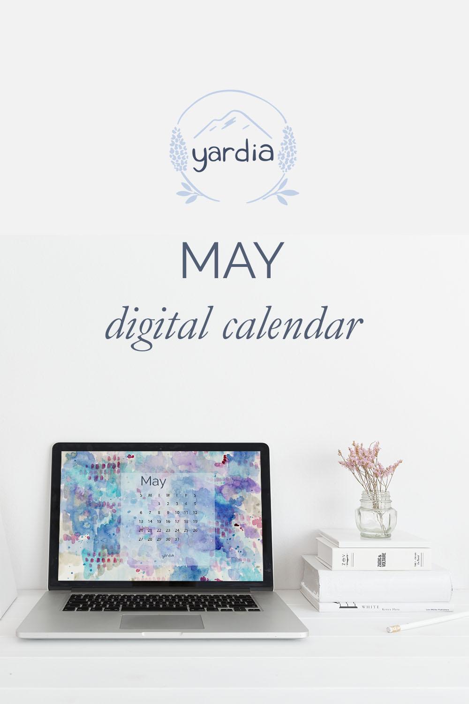May 2018 Digital Calendar