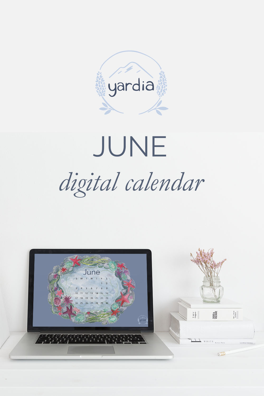 June 2018 Digital Calendar