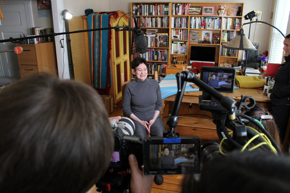 On location in San Francisco, the Mankiller crew interviews Roxanne Dunbar Ortiz