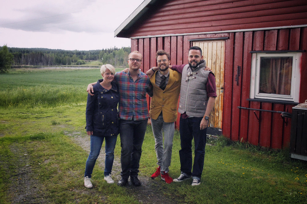 fr.l.t.r: Line, Marvin, Martin, me (at Martin's parents place very close to the swedish border)