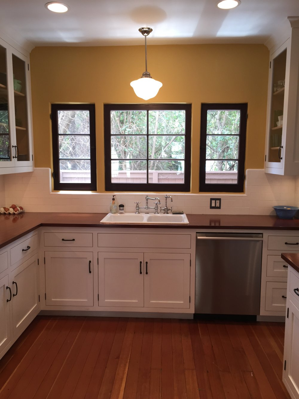 1920's kitchen re-created based on remaining elements in Butler's pantry and neighboring houses built by same builder.