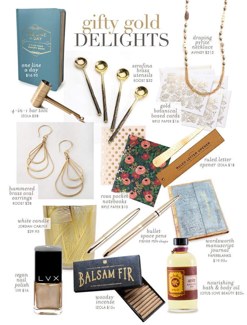 Courtney Oliver - Gifty Gold Delights - Collage for Vickerey