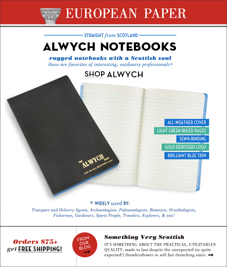 European Paper Alwych Newsletter Design - Courtney Oliver