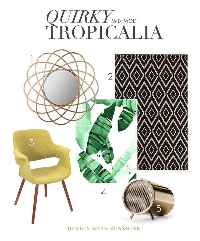 Quirky Mid Mod Tropicalia - Courtney Oliver