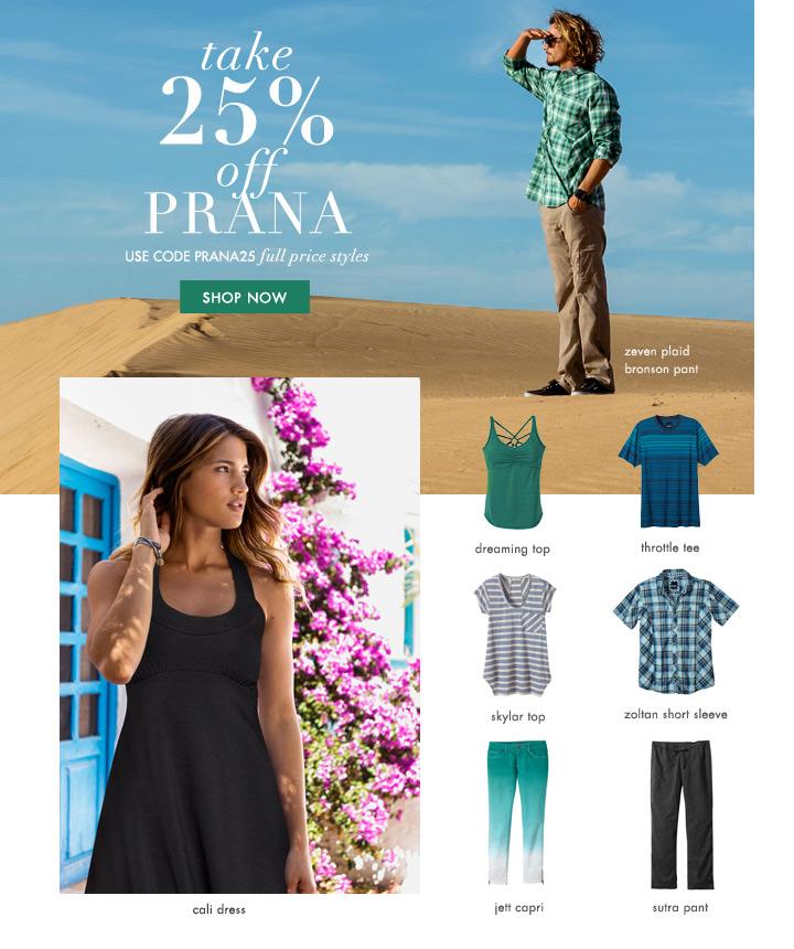 Prana Sale Newsletter - Oliwild Design Co.