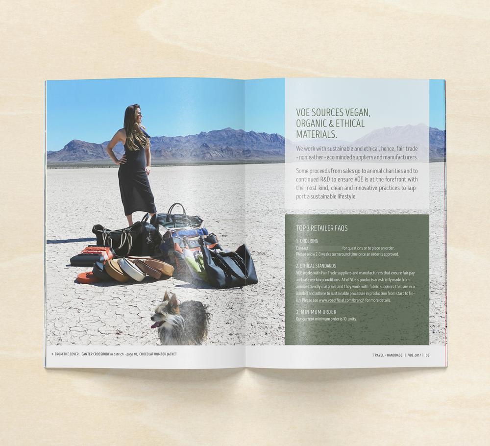 Courtney Oliver - VOE Line Sheet Design - Spread 2