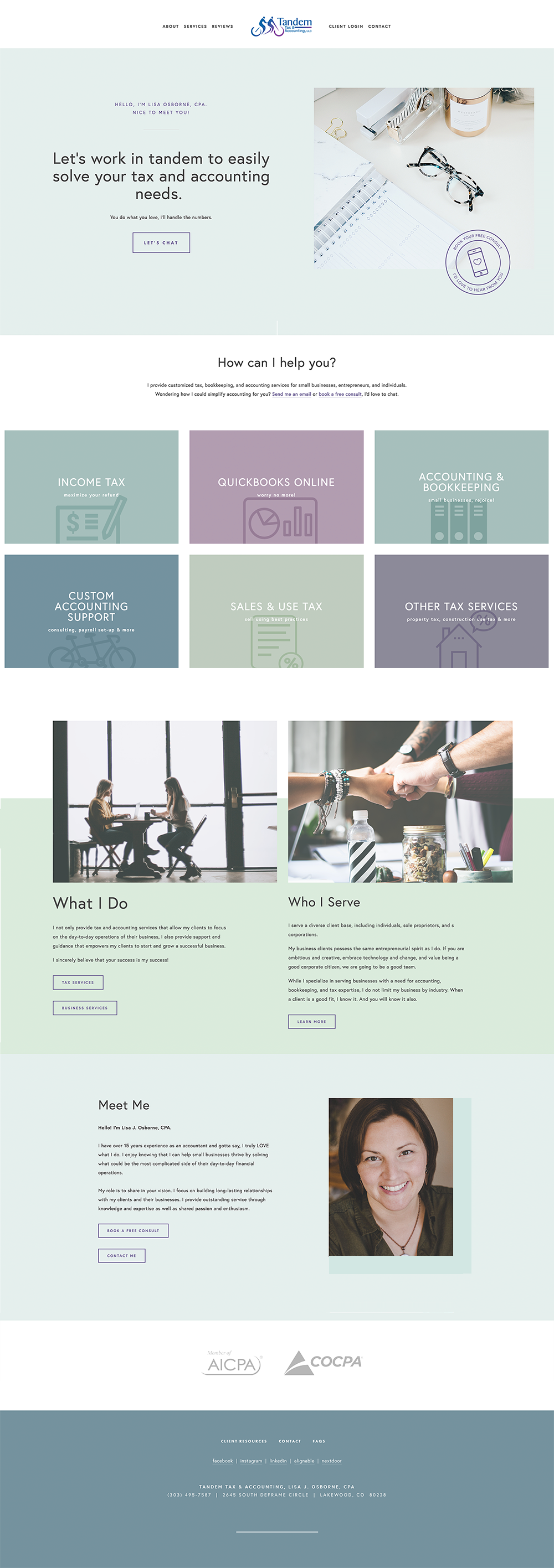 TANDEM TAX & ACCOUNTING  | squarespace |  live »