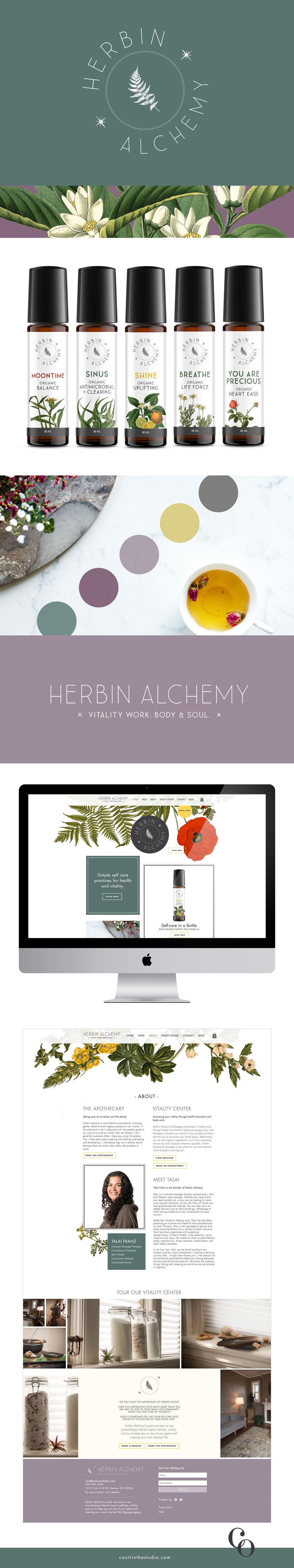 Herbin Alchemy Branding, Packaging, and Web Design by Courtney Oliver | courtinthestudio.com