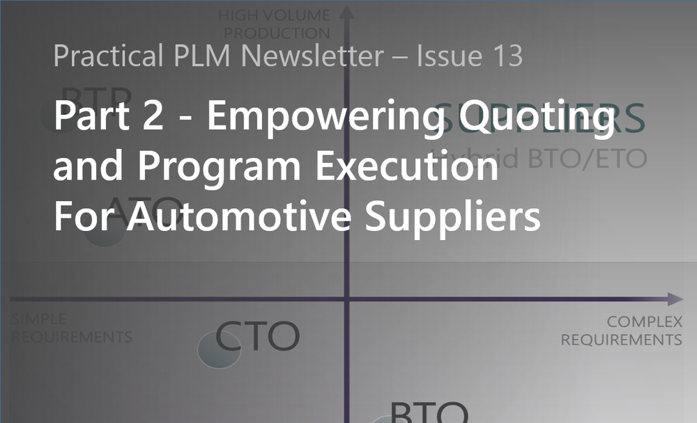 Empowering Quoting and Program Execution for Automotive Suppliers