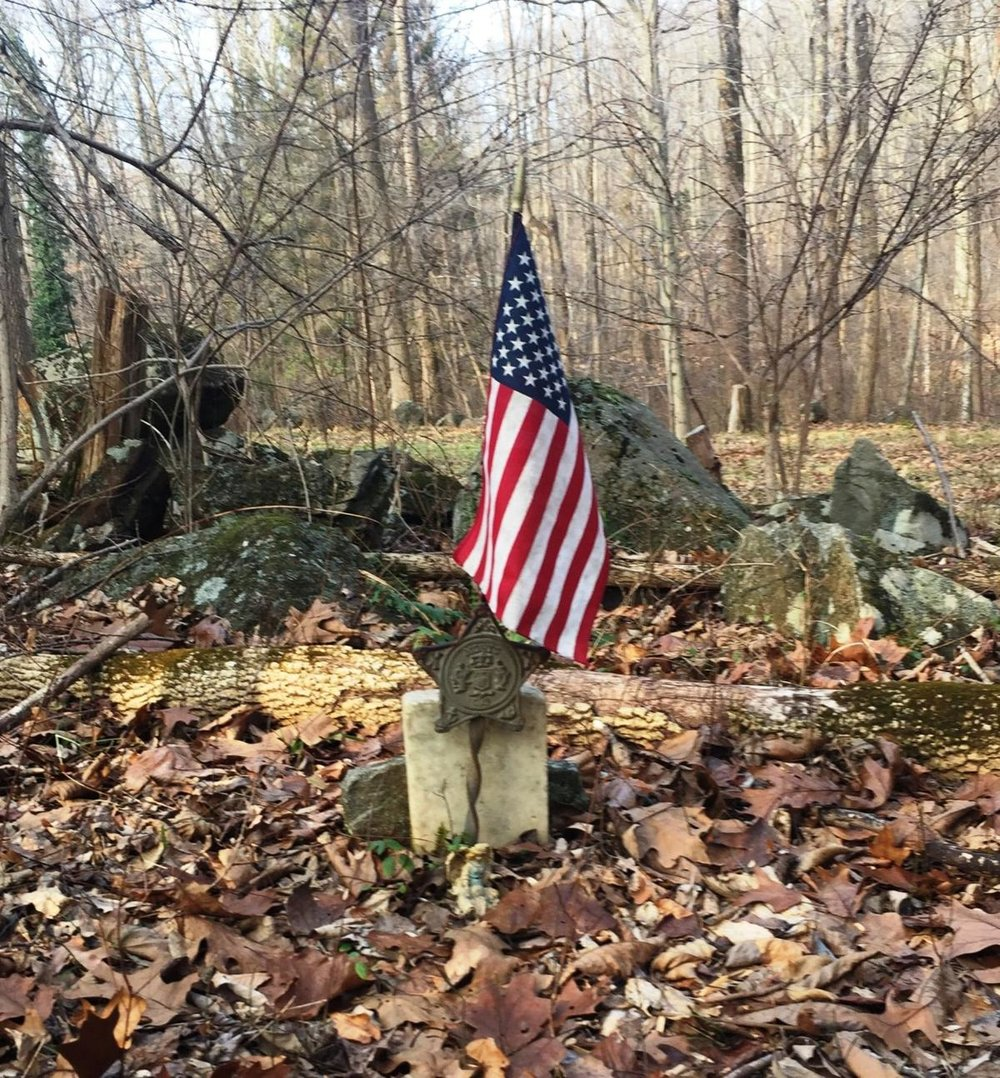 William Howe's grave along Snyder Rd in Upper Frederick Township, Montgomery County . Photo by Michael Snyder