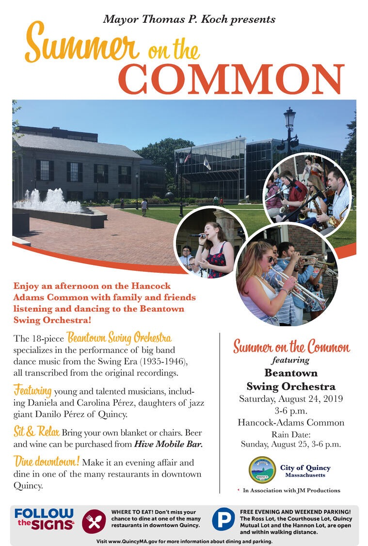 Summer On The Common Featuring Beantown Swing Orchestra