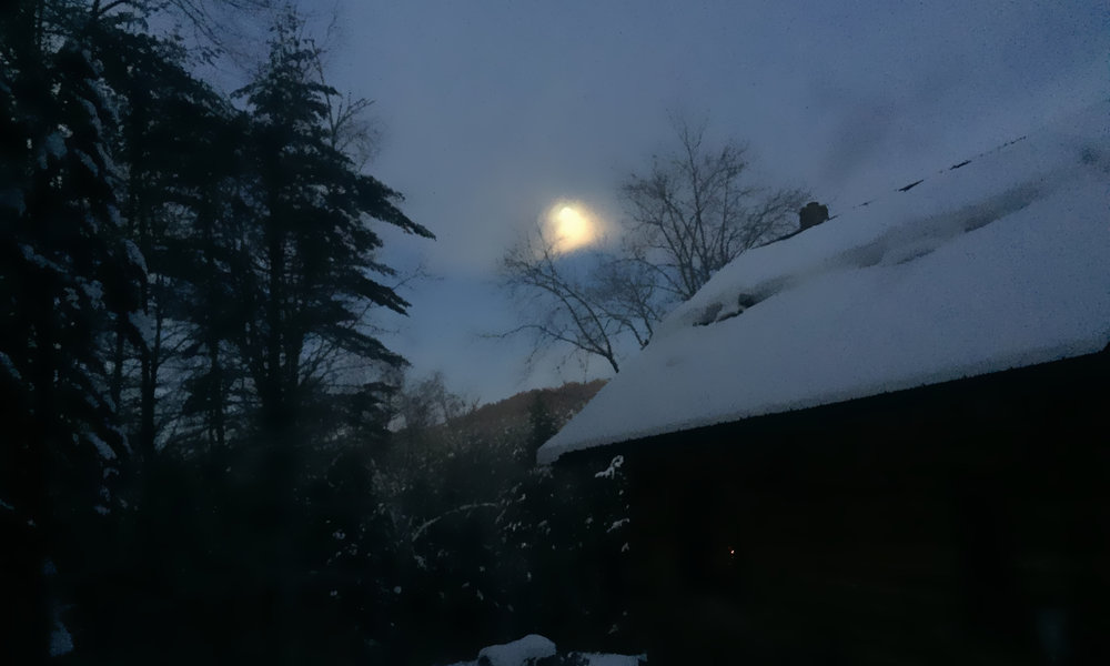 Dawn when I left my house about a week ago. South Strafford, VT 2018