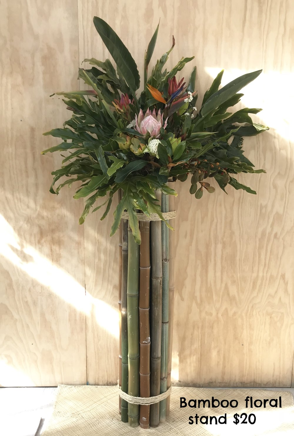 Bamboo floral stand