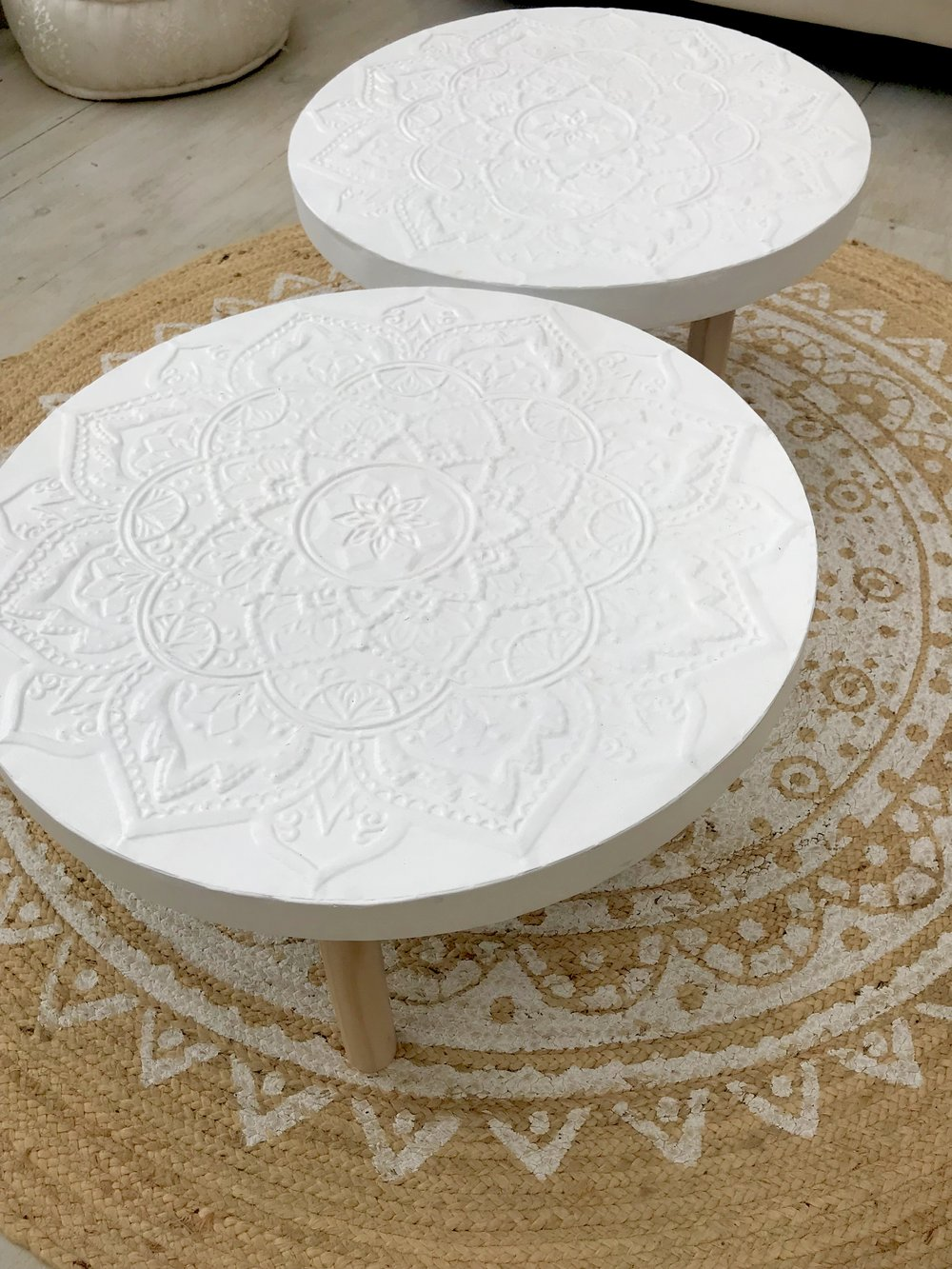 White Moroccan  tables