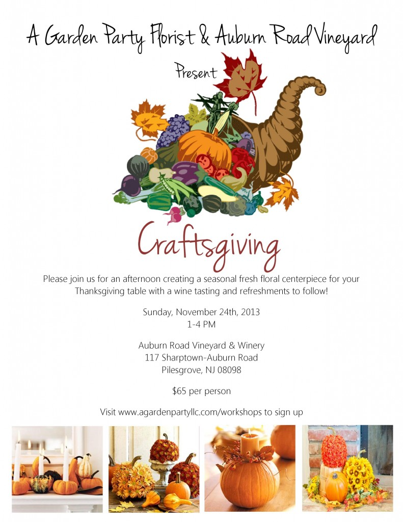 Craftsgiving Fall Workshop - A Garden Party Florist