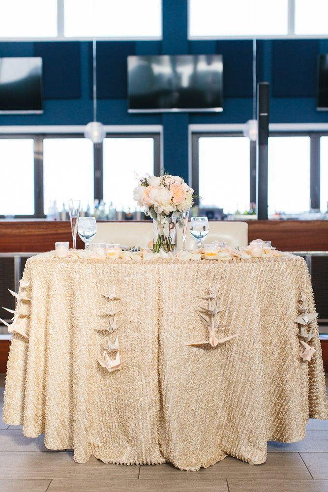 A Garden Party - Windrift Hotel - Avalon Wedding Florist - The More We See Photography - beach wedding - blush wedding - white wedding flowers - champagne linen - floral runner - card table - window panes