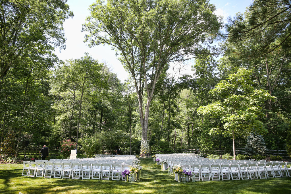 Princeton Wedding Florist - A Garden Party Florist - Marie Labbancz Photography - Abbey Malcom Press - woodland wedding - floral garland - white wedding flowers - yellow wedding flowers - lavender wedding flower
