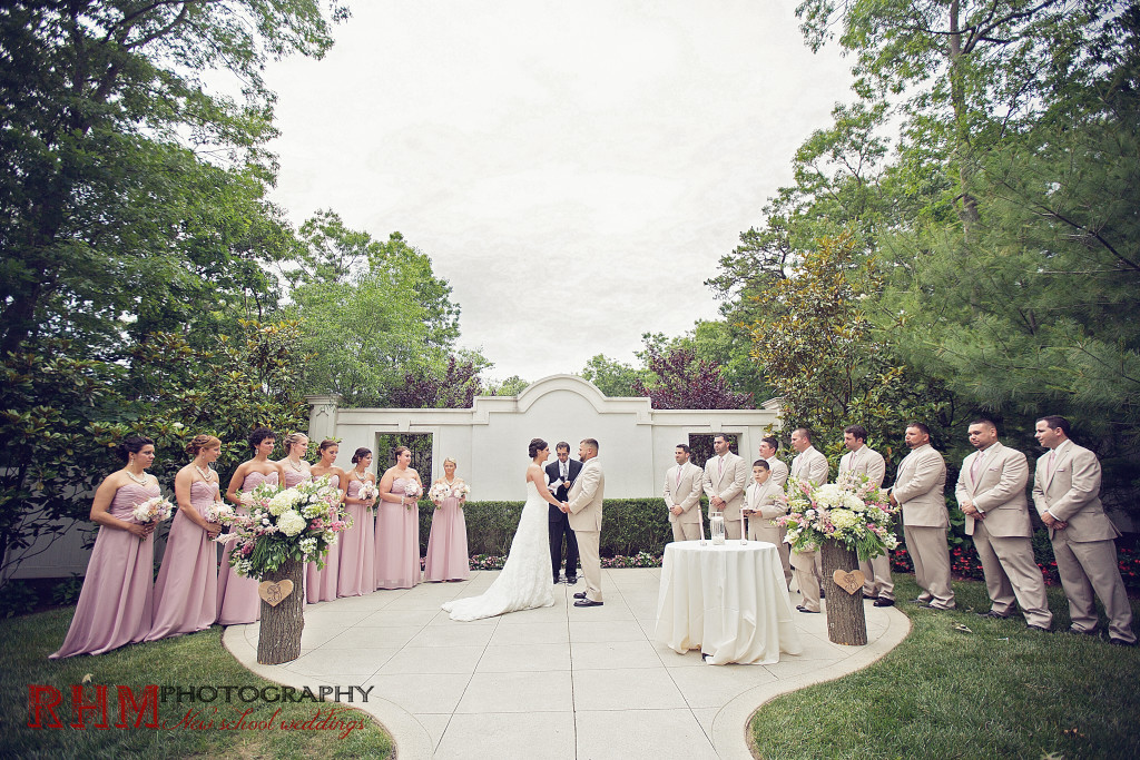 A Garden Party florist - South Jersey Wedding florist - the Carriage House - RHM Photography - blush wedding - floral trees - wooden accents - atilbe - anemone - peonies