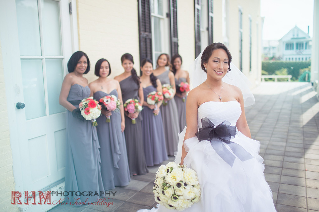 Cape May wedding florist - A Garden Party Florist - Congress Hall - RHM Photography - white wedding flowers - pink wedding flowers - pink and grey wedding - peonies - anemones