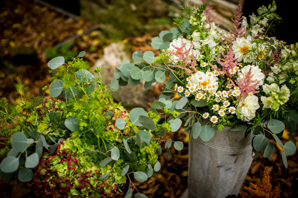 A Garden Party florist - Chesterbrook wedding florist - Duportail House - JPG Photography - fall wedding - outdoor wedding - dahlias - ferns - succulents - eucalyptus - rustic wedding