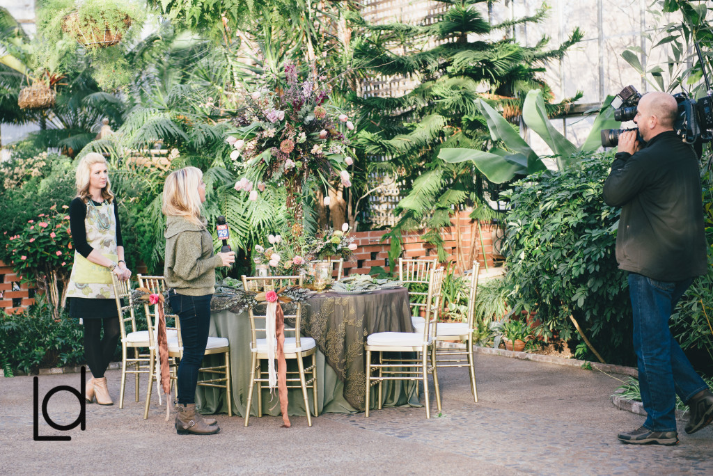 Philadelphia Wedding Florist - A Garden Party Florist - Lauren Driscoll Photography - Horticulture Center - Fairmount Park - wildflower wedding - ferns - tulips - floral tree - moss - floral jewelry - Fox 29 news
