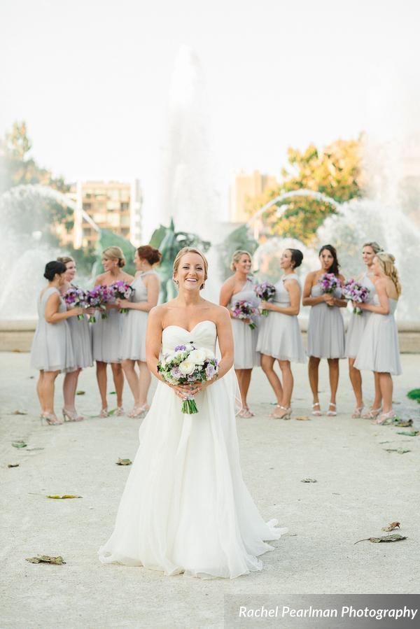 Philadelphia Wedding Florist - A Garden Party florist - Four Seasons Philadelphia - Rachel Pearlman Photography - Abbey Malcolm Press - Bel Memento Weddings - purple wedding flowers