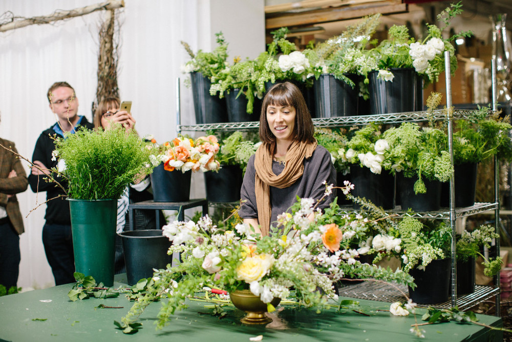 A Garden Party Florist - Chapel Designers - CDNYC2015 - Holly Heider Chapple - Lauren Carnes Photography - Astrid Photography - Robbie Honey - Sarah Winward - David Beahm - floral design - modern bouquets - centerpiece