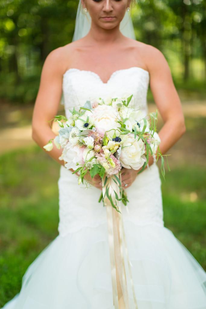 South Jersey Wedding Florist - A Garden Party - Running Deer Golf Club - Tami Melissa Photography - blush wedding - greenery - garland - candelabra - anemone - peonies