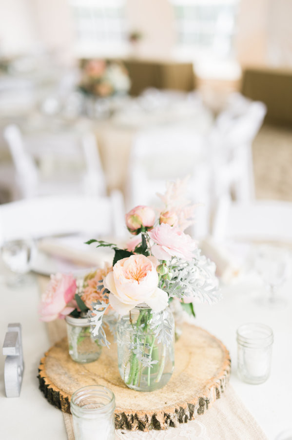 A Garden Party Florist - Cape May Wedding Florist - Beach Club of Cape May - Rach Loves Troy Photography - Events by Renee - blush wedding - beach wedding - garden roses - peonies - hair flowers - curly willow - canopy