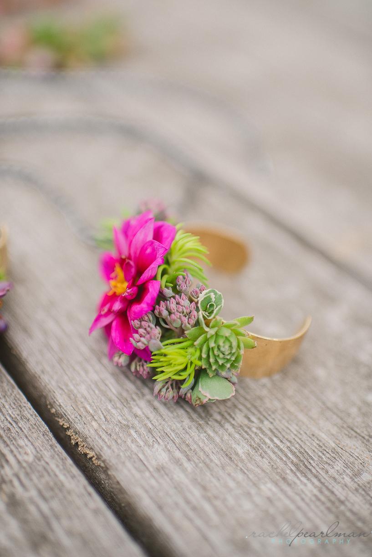 NJ Wedding, Philadelphia Bride, Flower Cuff, Pink Flowers, Succulent Wedding, Rachel Pearlman Photography