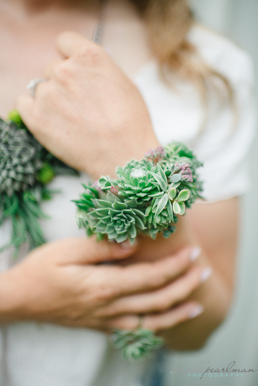 NJ Wedding, Philadelphia Wedding, Floral Jewelry, Flower Cuff, Succulent Cuff, Flower Necklace, Rachel Pearlman Photography
