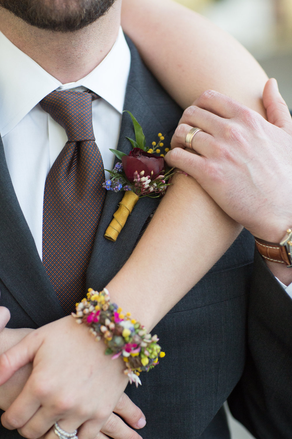 Floral cuff and bout, Hello Gorgeous Photography